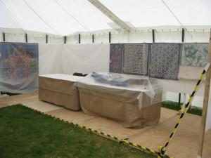 Art In Action 2014 - Stand Set Up for rain - Khayamiya