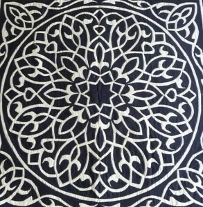 Black White Pattern Work Khayamiya Tentmakers