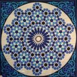 Blue Hex Star Pattern Khayamiya Tentmakers