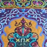 Bright Colours Floral Pattern Work Khayamiya Tentmakers