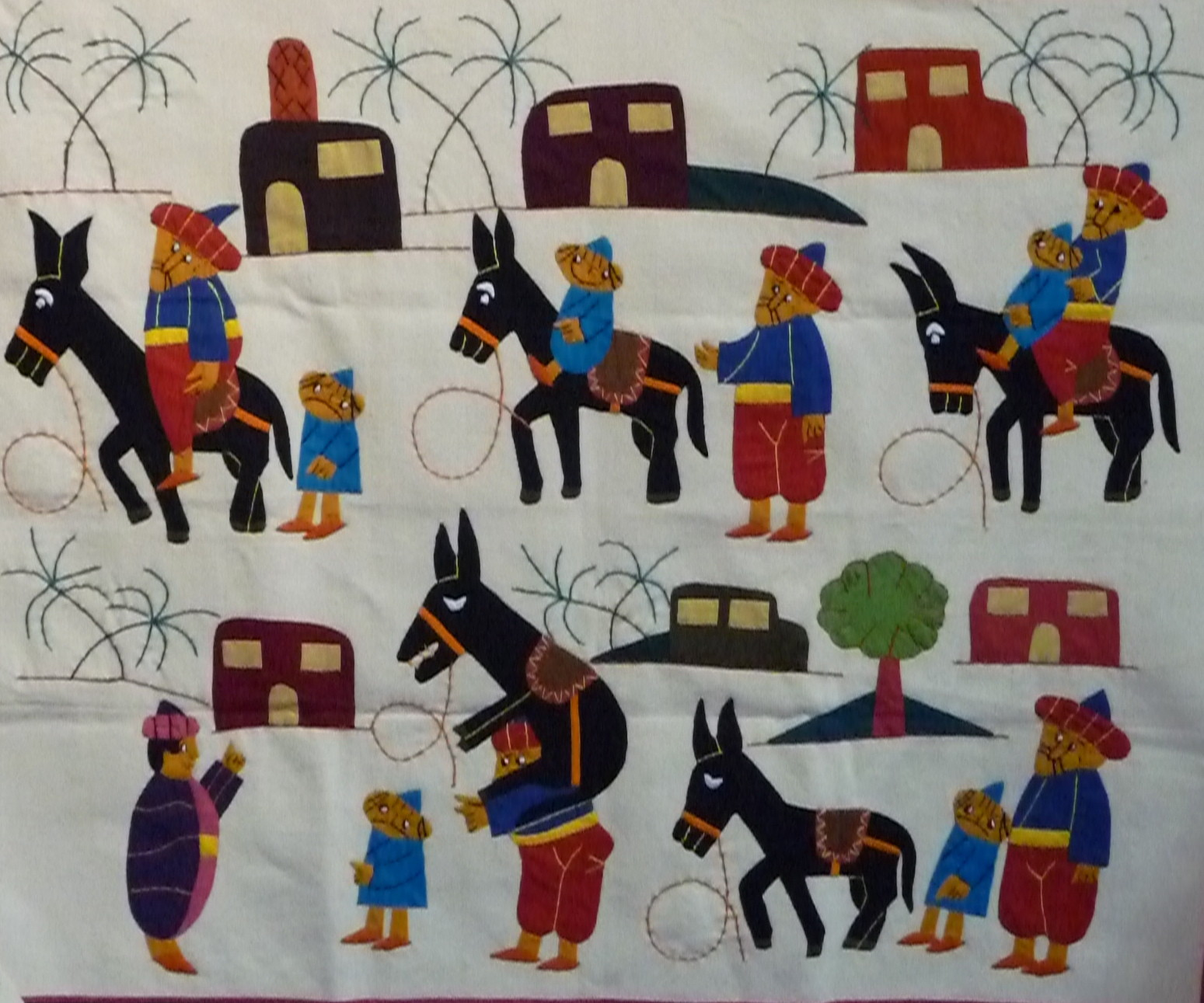 Goha Donkey Wall Hanging Shop Khayamiya Tentmakers