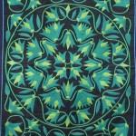 Green Floral Pattern Work Khayamiya Tentmakers