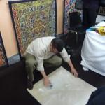 Tentmaker Working On New Design Khayamiya Tentmakers